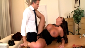 Hard pounding in company with hawt latina brunette Emma Butt