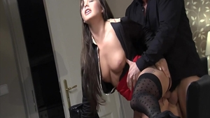 Big tits in sexy stockings smashed by Denis Reed