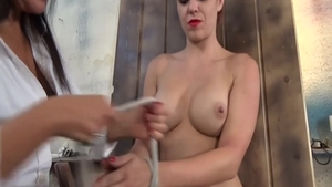 Kinky lesbian mother licking