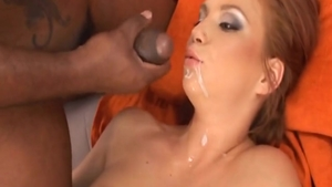 Small tits Electra Angel with Black Guy gonzo swallow