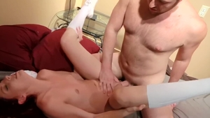 Raw sex in company with large tits uncle