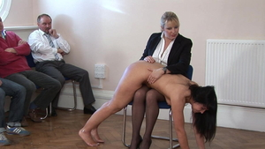 Spanking in company with mistress