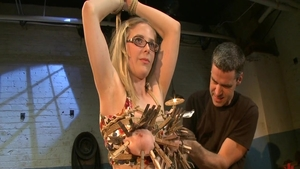 Babe feels up to caning