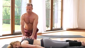 Gorgeous european couple digs yoga in HD