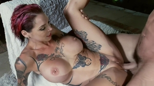 Pornstar Anna Bell Peaks sucking dick