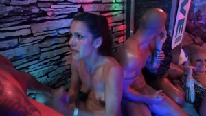 Amateur Donna Joe & Victoria Puppy rough orgy at the party