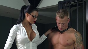 BDSM accompanied by huge tits asian blonde haired