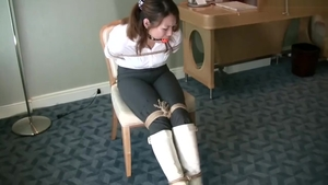 Japanese feels up to bound in boots