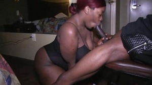 Raw sex alongside chubby ebony amateur