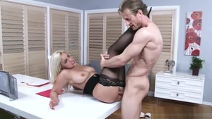 Plowing hard starring large tits american brunette Kylie Page