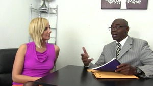 Kate England in stockings first time dick sucking in office