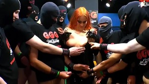 The Latex Queen along with Dirty Mary gangbang