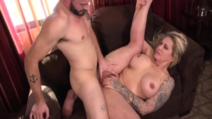 Busty Ryan Conner alongside Nathan Bronson raw bends over
