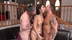 Shaved caucasian amateur feels in need of fetish handjob in HD