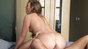 Teen chick Ashley Red creampie