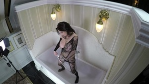 Busty brunette bends to get fucked