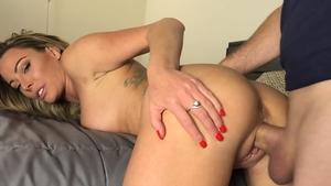 Egyptian blonde receives nailing
