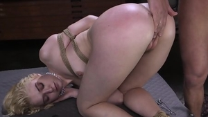 Banging tied up escorted by girl