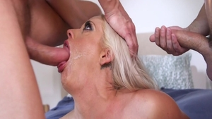 Busty Holly Heart ass fucked getting a facial