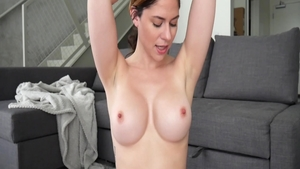 Hard sex on live cam starring busty amateur Ashley Alban