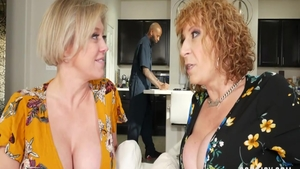 Sara Jay escorted by blonde Dee Williams orgy