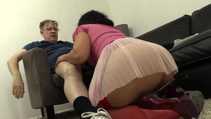 Pussy fucking accompanied by big ass brunette Montse Swinger