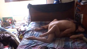 Long haired amateur homemade fucking on sofa