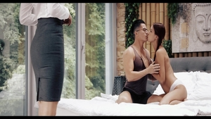 Rough sex scene in the company of Paula Shy & Christy Charming
