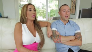 Handjob sex scene next to busty POV Elle Ryan