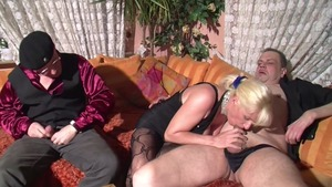 Rough fucking alongside erotic german MILF