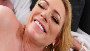 Classy blonde Briana Banks feels up to plowing hard