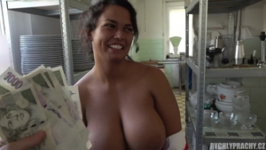 European cowgirl sex in the kitchen in HD