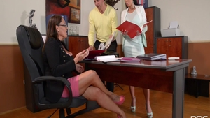 Nick Lang together with hottest mature Patty Michova in office