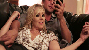 Threesome together with stunning blonde Julia Ann