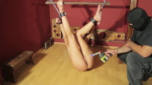 Torture with skinny arab teen chick
