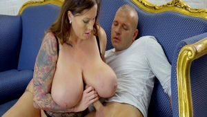 Big boobs mature Laura Orsolya likes nailed rough