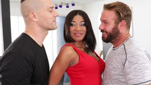 Shaved and hottest Lala Ivey threesome