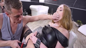 Hard nailining together with blonde Liza Billberry