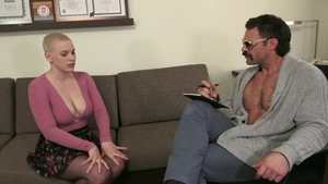 Rough nailing along with trimmed pussy blonde Riley Nixon