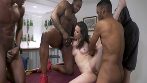 Casey Calvert & Jax Slayher interracial banging in the pool