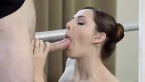 Rough hard sex accompanied by very nice brunette