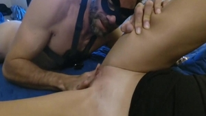 Hard pounding together with hottest