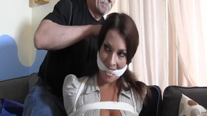 Tied up with very sexy mature
