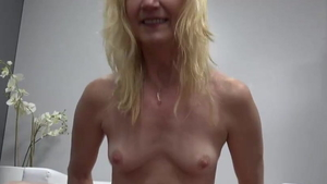 Small tits granny sucking dick at castings HD