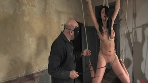 Big tits and erotic pornstar Victoria Sin rough bondage