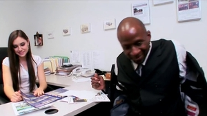 Perfect secretary rough interracial pounding in office