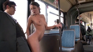 Small tits Foxy Di creampie in the bus