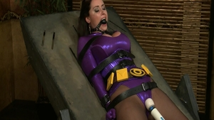 Exotic woman girl Christina Carter cosplay bondage