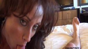 Ramming hard in company with very sexy american babe Eva Notty