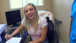 Kylee Reese hardcore face fucking in office HD